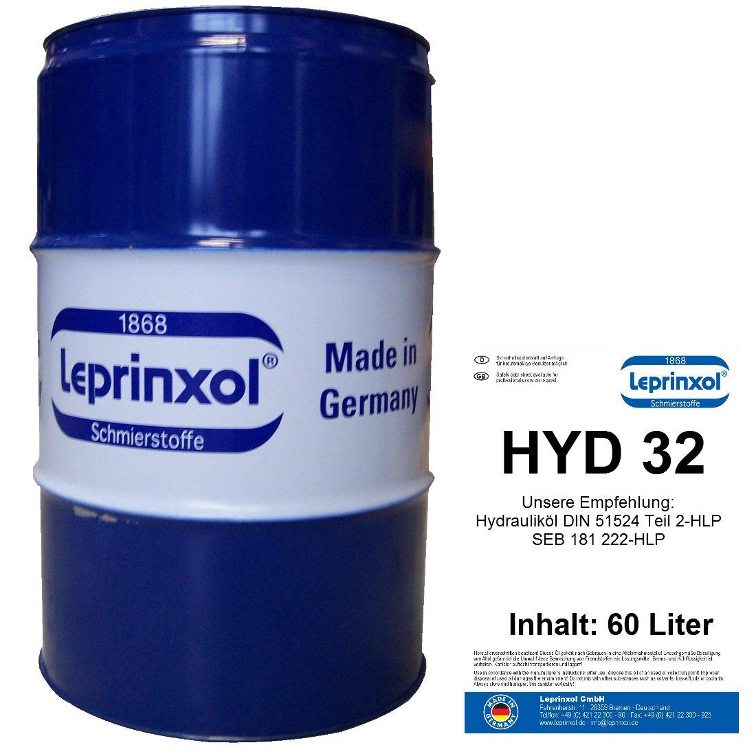 60L Fû t HYD 32 lepri nxol hydraulique liquide. Le dans 60 L Garage FAS sabgefü llte Huile hydraulique HLP 32 est un mineralö l, le comme liquide de pression, hydraulique huile, des DIN 51524 partie 2-HLP, SEB 181&nb