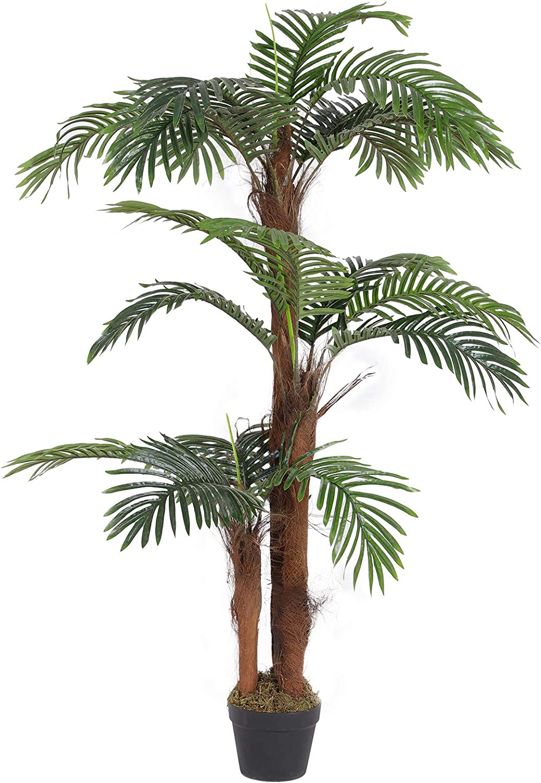 SONGMICS Artificial Palm Tree, 55-Inch Tall Potted Paradise Palm Silk on palm leaf chickee, palm bamboo, palm pattern, palm border, palm vector, palm beetle, palm flowers, palm drawing, palm shrubs, palm bonsai, palm tr, palm seeds, palm christmas, palm shoot, palm trees, palm diagram, palm leaf cut out, palm chamaedorea seifrizii, palm roses, palm rats,