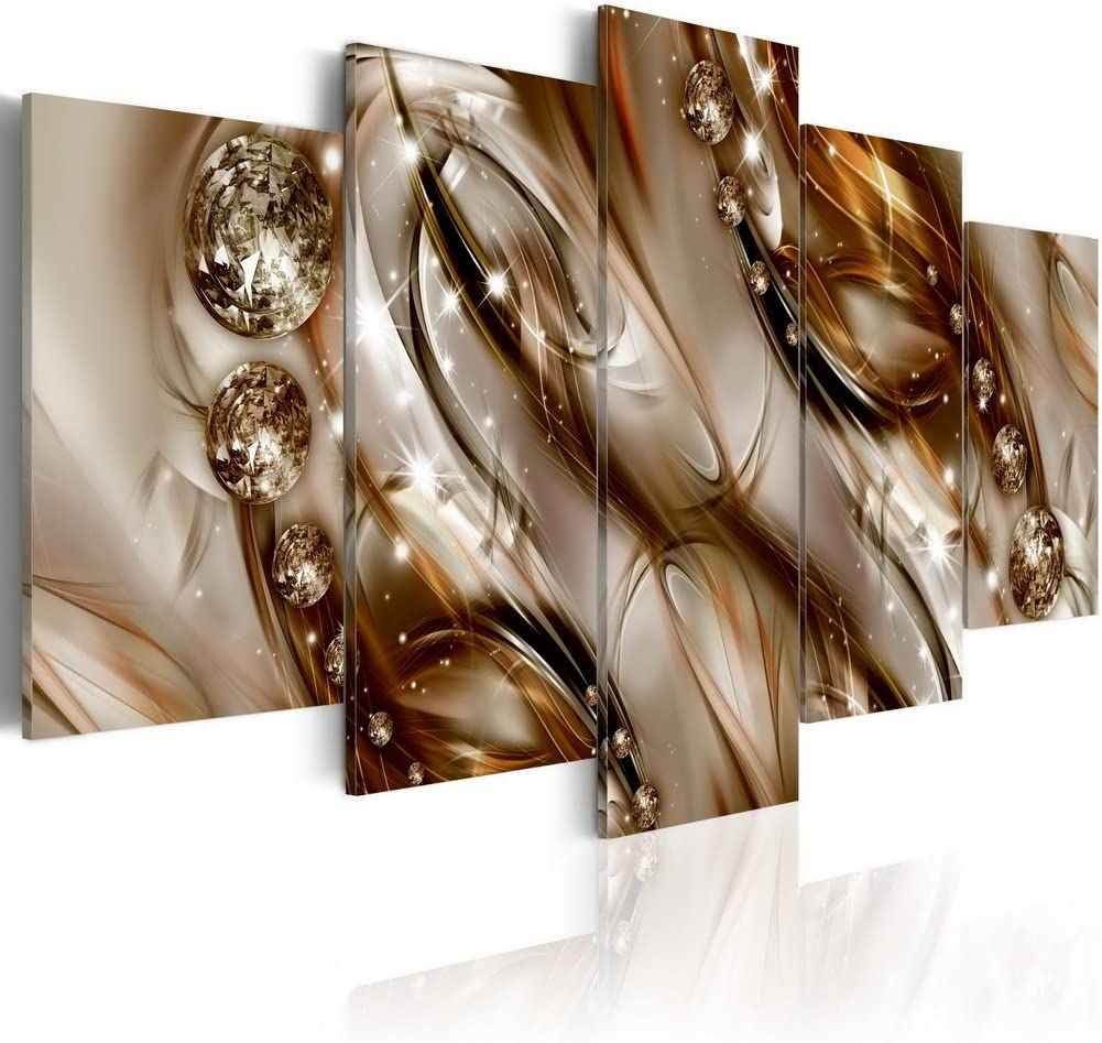 Brown Abstract Canvas Wall Art Painting for Living Room Modern Home Decor HD Print Contemporary Hanging Artwork (W40