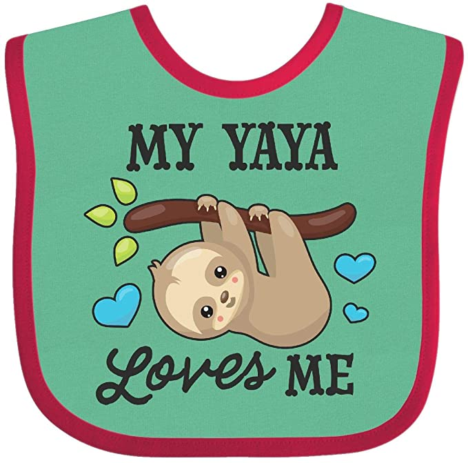 inktastic My Yaya Loves Me Sloth Baby T-Shirt