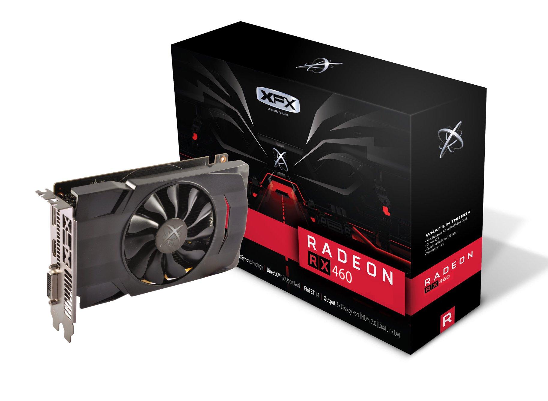 XFX AMD Radeon RX 460 4GB GDDR5 DVI/HDMI/DisplayPort PCI-Express Video Card (RX-460P4SFG5)