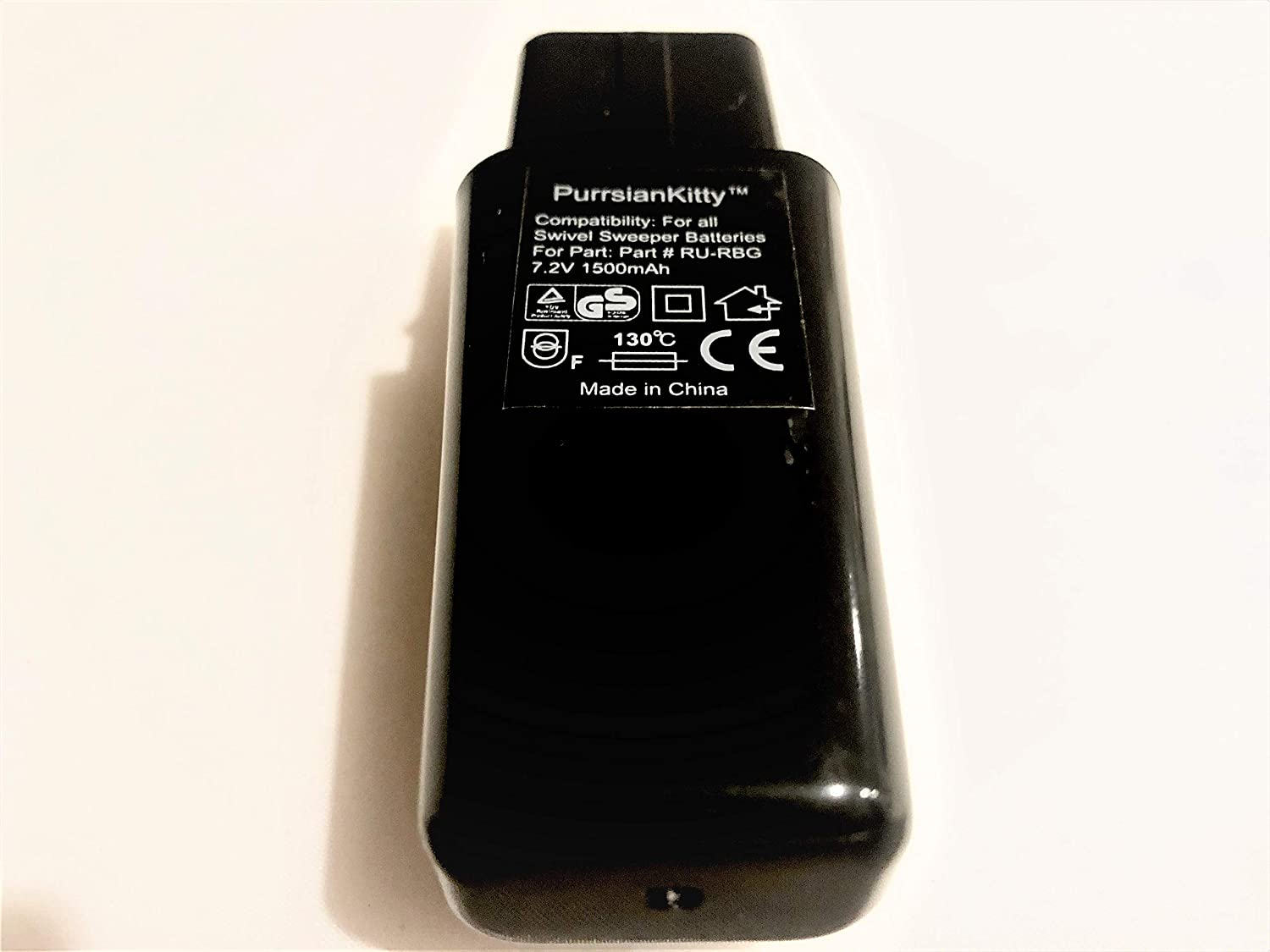 PurrsianKitty 7.2V 1500mAh Ni-MH Replacement Battery for Ontel Swivel Sweeper G1 G2 G3 G6 G8 Max - Replaces Part # RU-RBG - Black