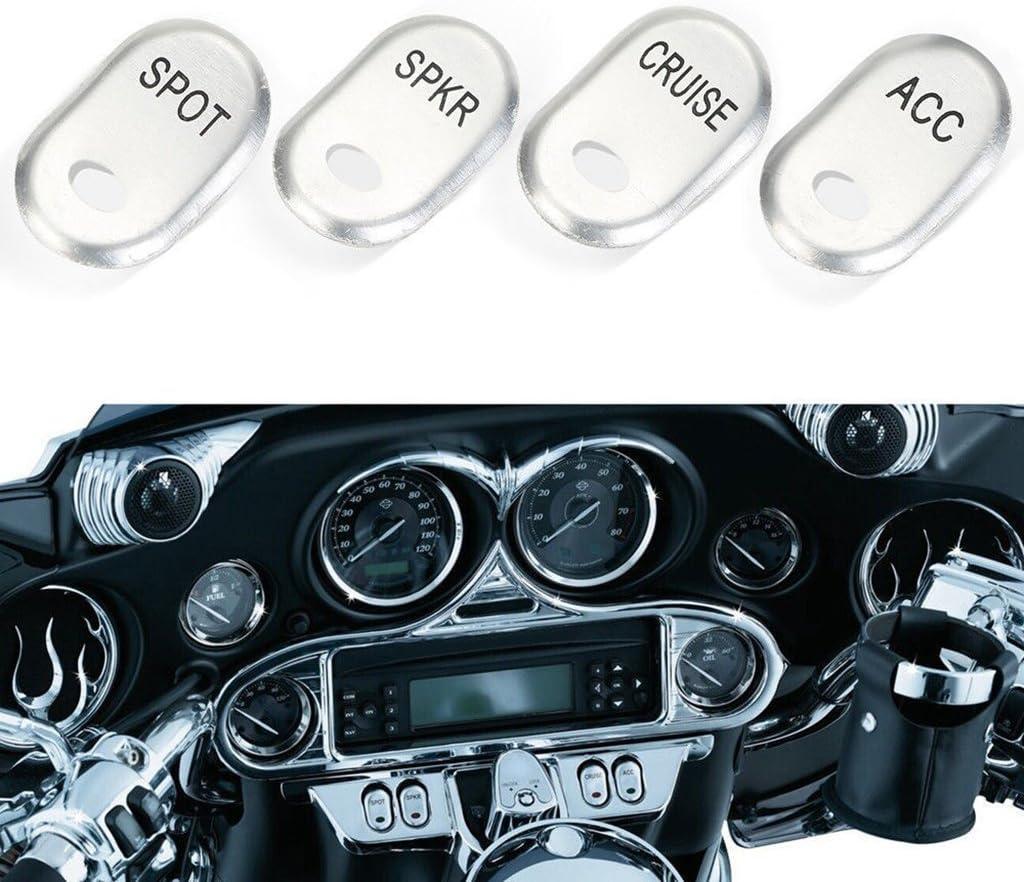 Krator CSH008 Switch Housings Cover Kit Chrome Handlebar for Harley Davidson Road Glide Fltr//I