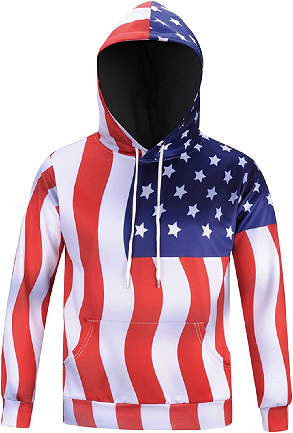 American Flags Adult Hooded Sweatshirt