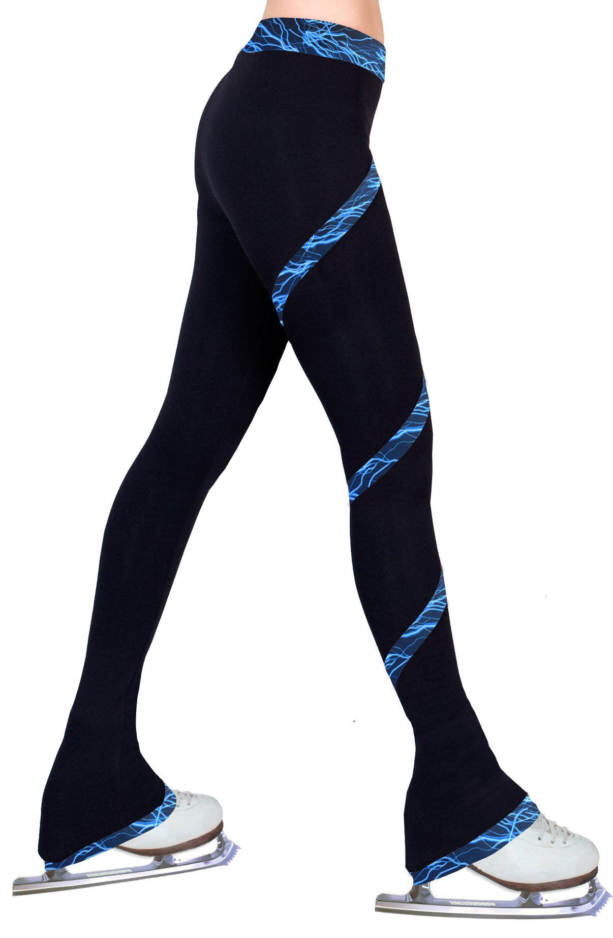 ny2 Sportswear Figure Skating Spiral Polartec Polar Fleece Pants (Lighting Foil Blue, Child Extra Small) by ny2 Sportswear