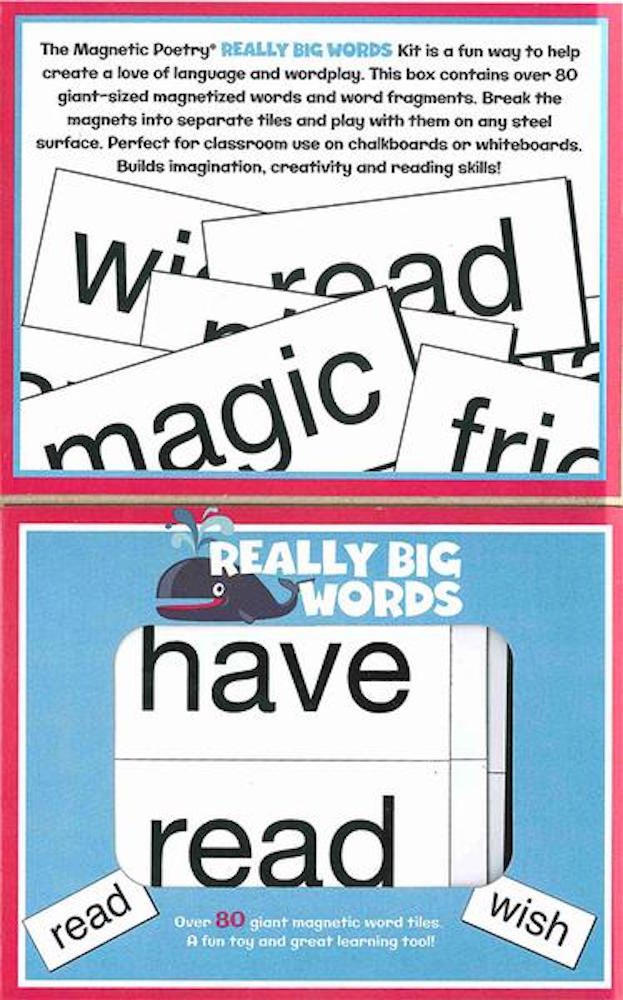 Amazon.com: Magnetic Poetry - Kids Really Big Words Kit - Ages 5 ...