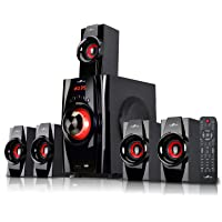 BEFREE SOUND BFS-410 Bluetooth Home Stereo System with USB and SD Slots – Red