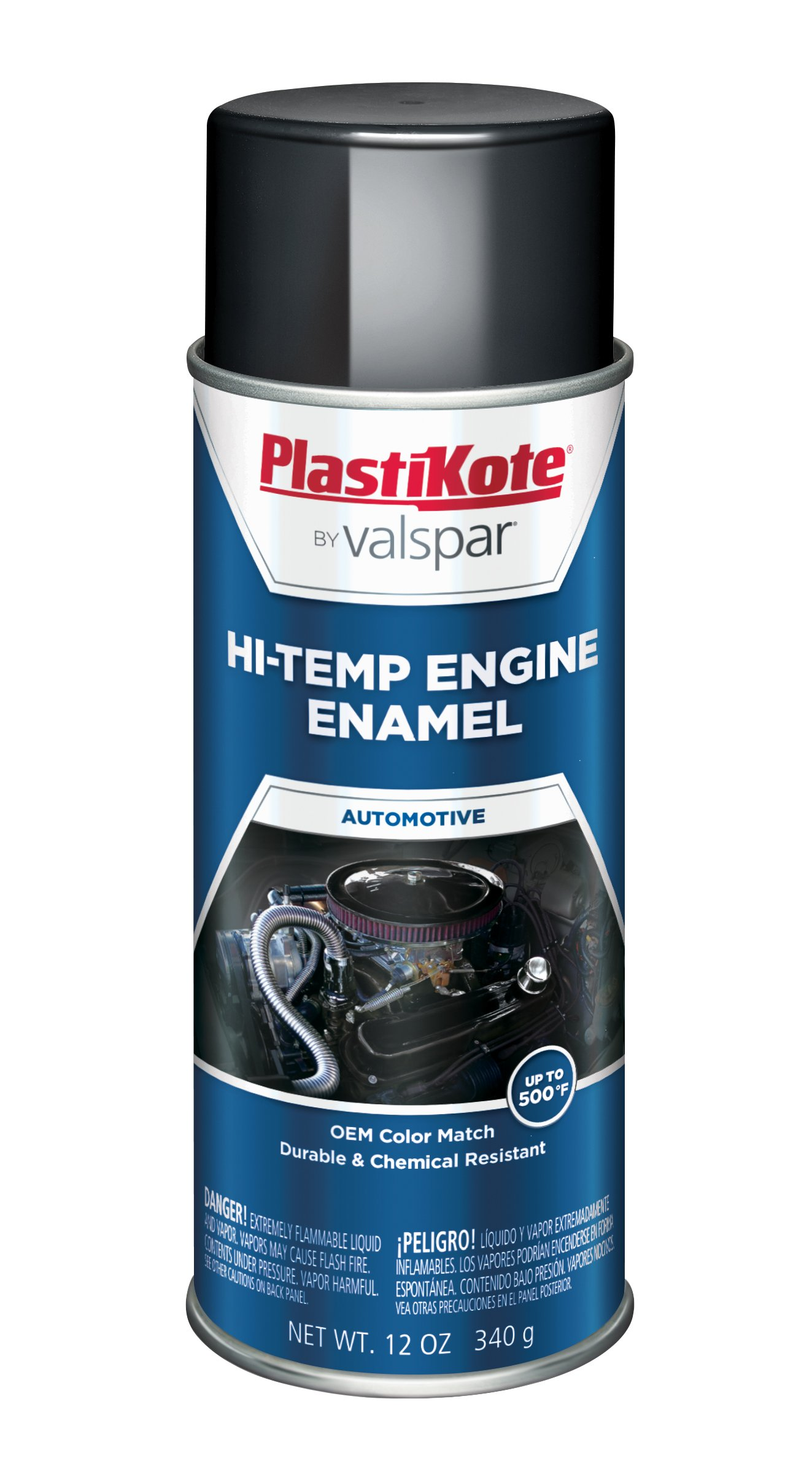 PlastiKote 203 Universal Black Engine Enamel, 12 oz.