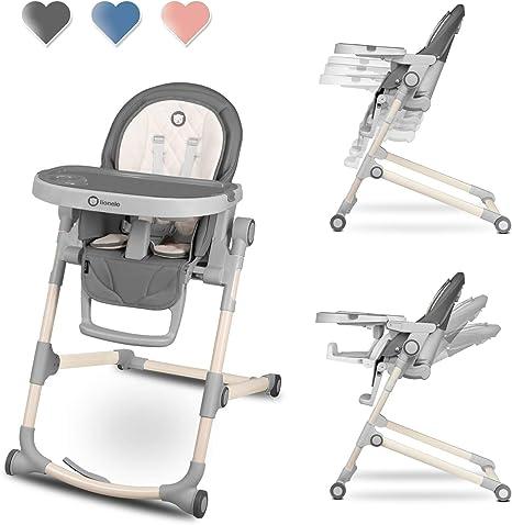 Lionelo LO-CORA STONE - Trona para bebé, ajustable, plegable ...