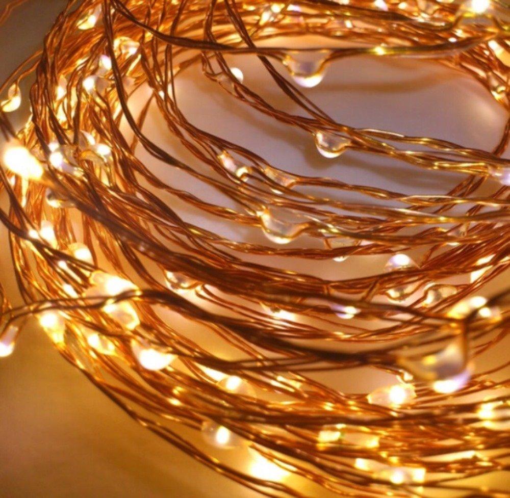 LED-Lichtshop® 1 Stück 30er LED-Lichterkette auf silbernem ...