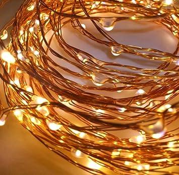 Led Lichtshop 1 Stück 50er Led Lichterkette Auf Silbernem Kupferdraht Warm Weiß Innen Oder Aussen Batterie Betrieben Mit Schalter Und 4h Timer