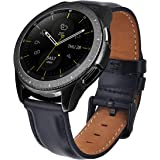 Bands Samsung Galaxy Watch 42mm Bands,TOROTOP 20MM Genuine Leather Strap Replacement Band Strap Galaxy Watch 42mm Bands(Black)