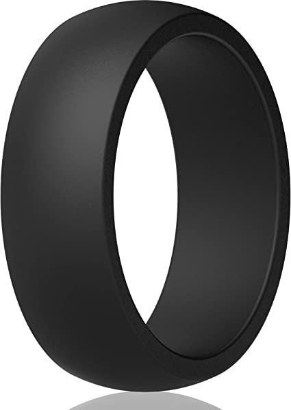 1 Ring 18.9mm Black, 8.5-9 ThunderFit Silicone Wedding Ring for Men
