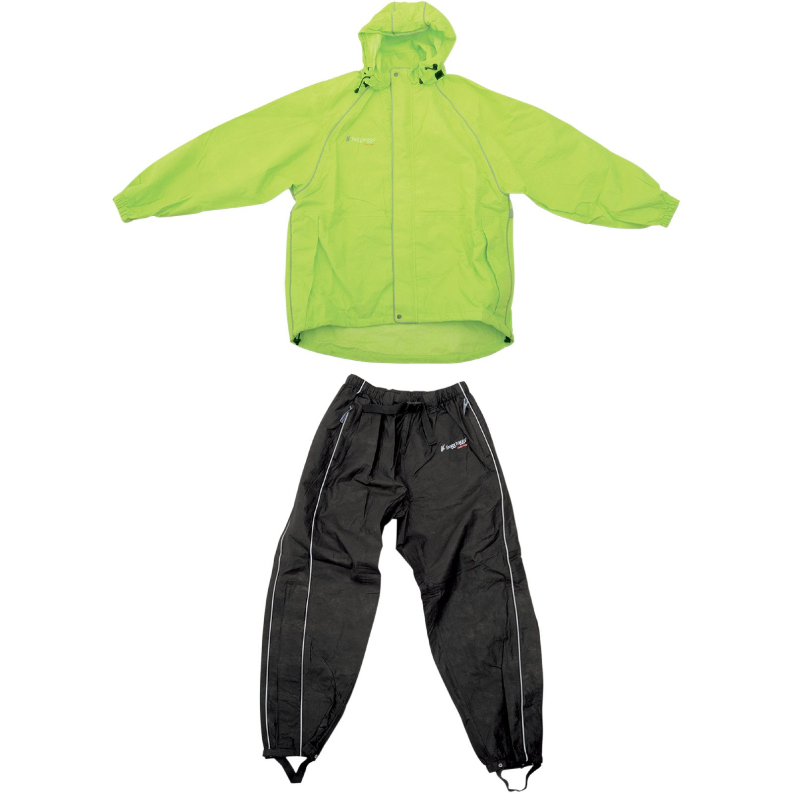 Frogg Toggs Men's High Visibility Cruisin Toggs Rainsuit (Green/Black, Medium)