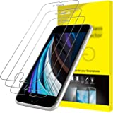 "JETech Protector de Pantalla Compatible iPhone SE 2020 4,7"", Vidrio Templado, 3 Unidades"