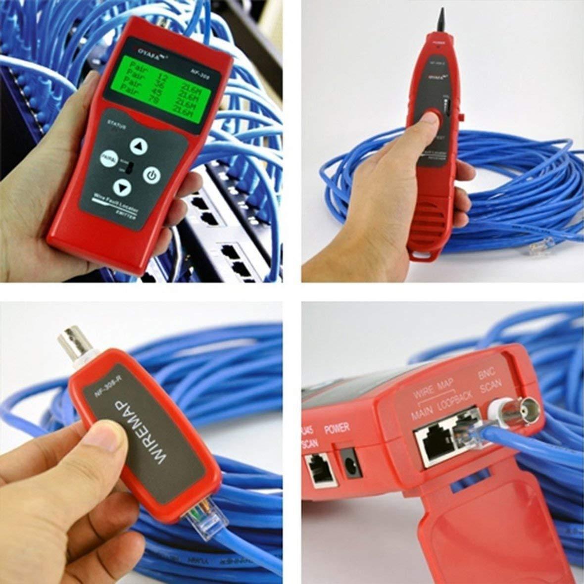 Heaviesk para Noyafa NF-308 Pantalla LCD multiprop/ósito Probador de Cables de tel/éfono de Red Localizador de l/íneas Buscador de Cables Buscador de Cables