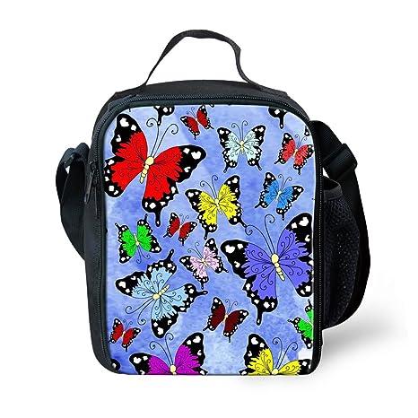 Amazon.com: coloranimal diseño de mariposas térmico almuerzo ...