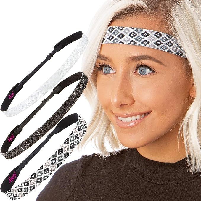 Hipsy Cute Fashion Adjustable No Slip Hairband Headbands for Women Girls    Teens (Black   0f7f34123