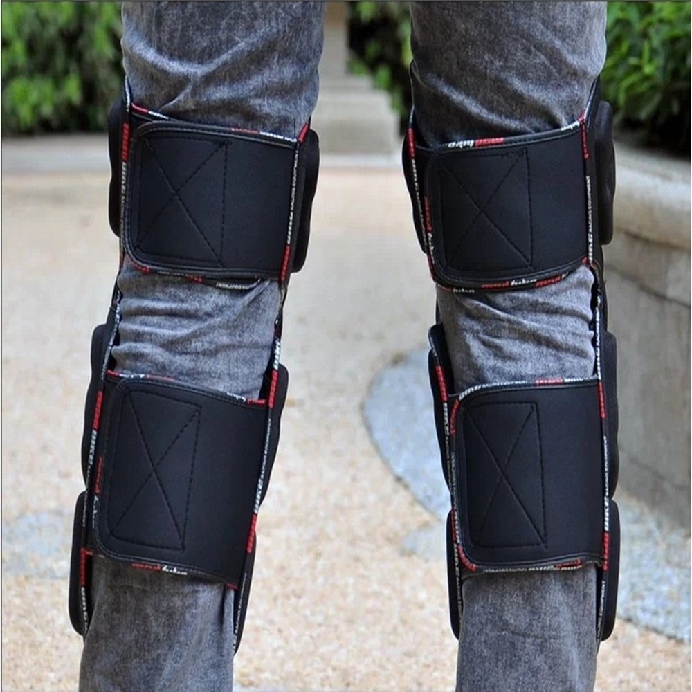 TLMYDD Anti-Fall Knee Pads Leg Protectors Professional Motorcycle Racing Off-Road Vehicle Safety Kneepad by TLMYDD (Image #4)