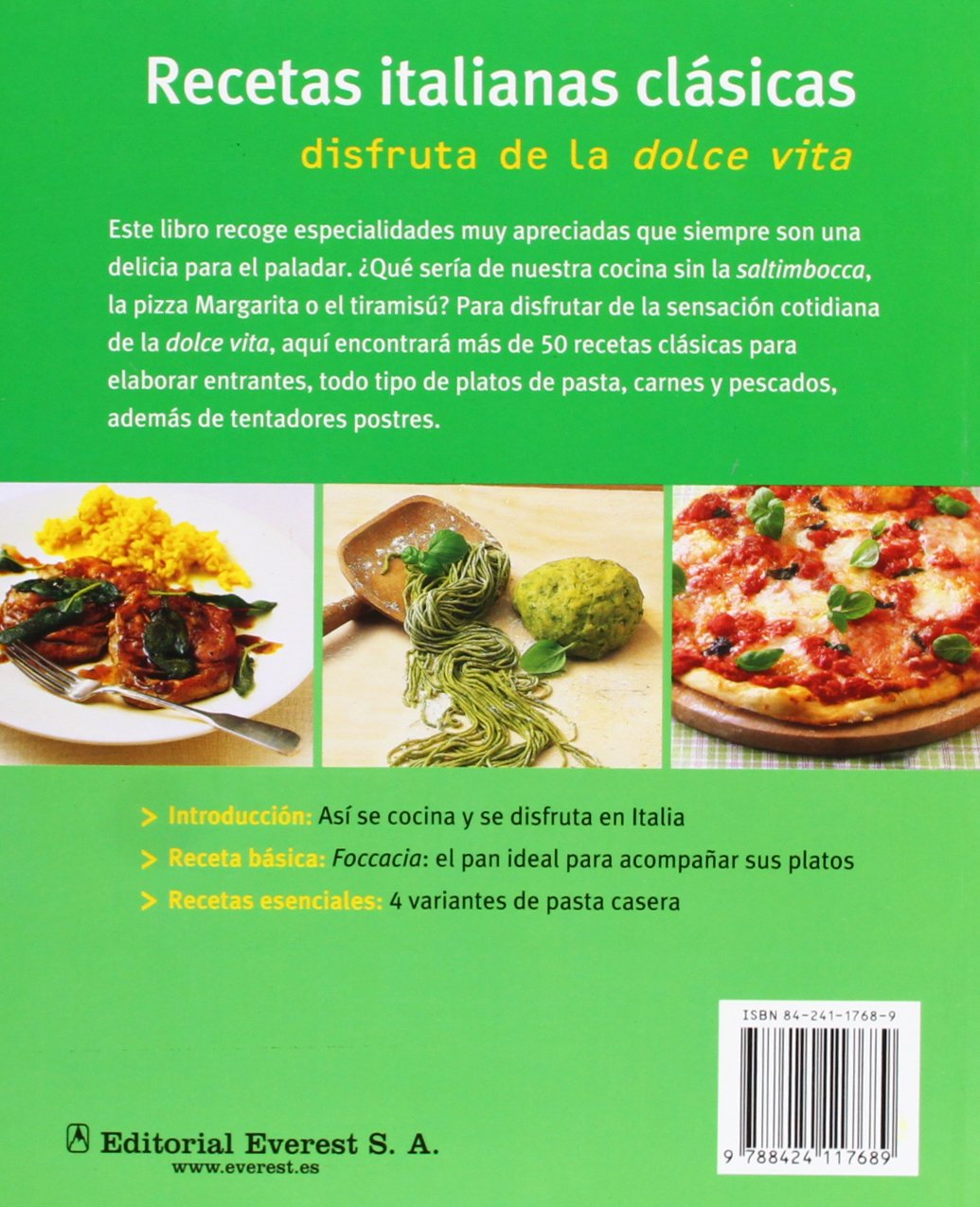 Recetas Italianas Clasicas (Spanish Edition) by Everest De Ediciones Y distribucion