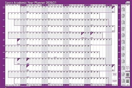 Calendrier La Poste 2021 Sasco Calendrier annuel mural Année scolaire Planning annuel