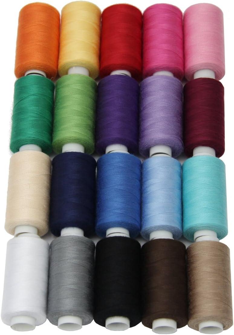 bo/îte de Rangement Pratique S2 Force//Syngarn 100/% Polyester de qualit/é//Superbe m/élange de Couleurs Lialina Allzweck Lot de 20 Rouleaux de Fil /à Coudre 500 m x 40