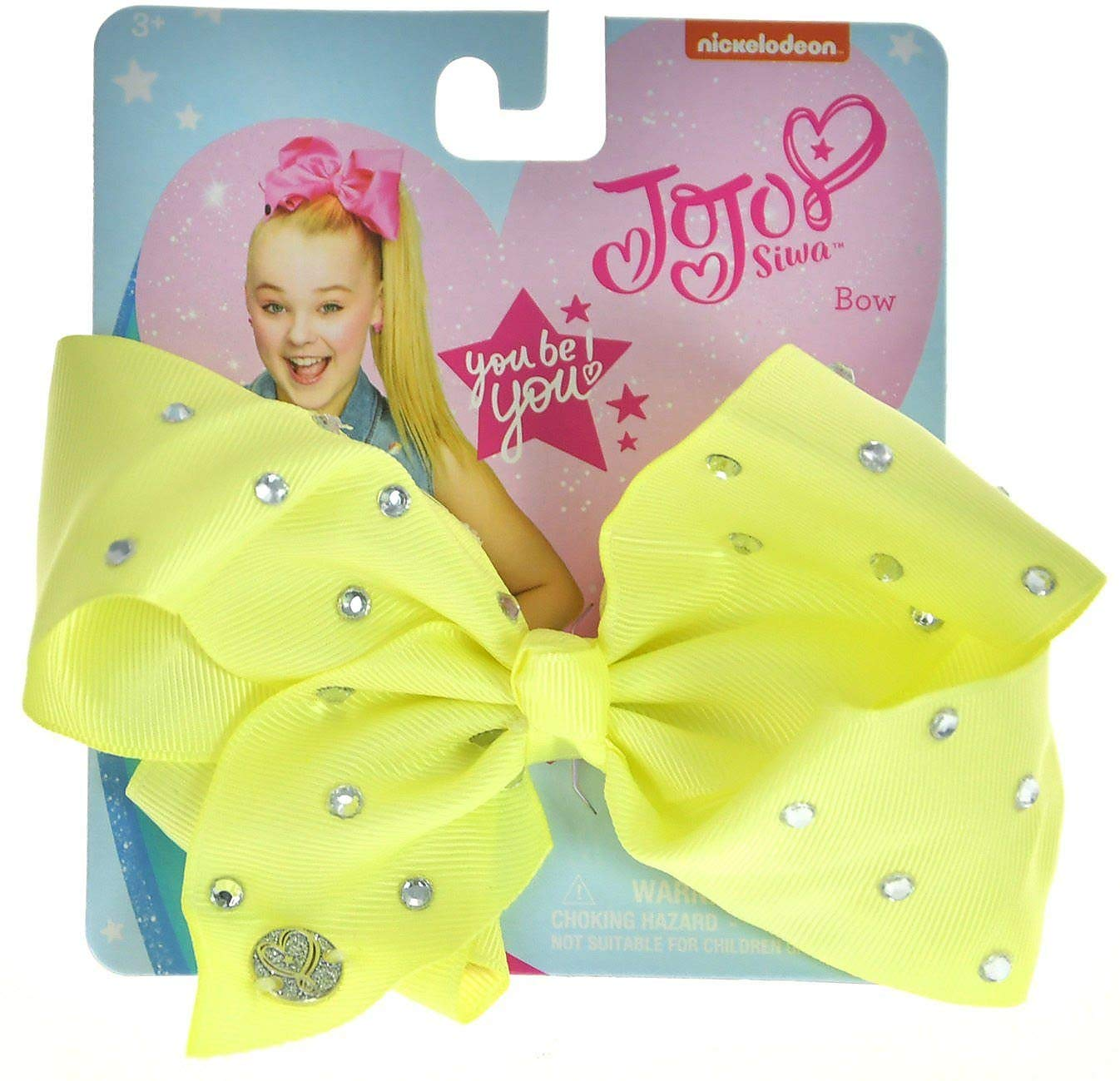 JoJo Girls Siwa Signature Collection Yellow w Rhinestone Hair Bow