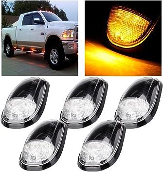 Wiring Pack for 99-02 Dodge Dodge Ram 5 Amber Cab Marker Cover T10 White LED