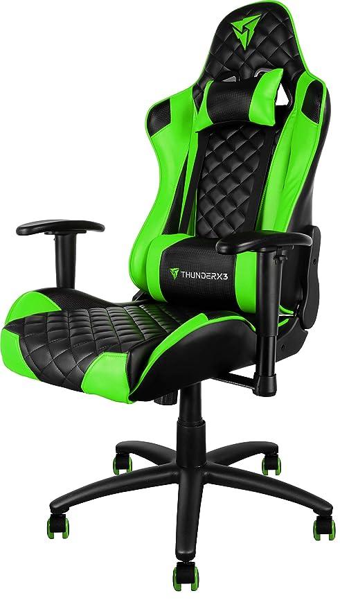 ThunderX3 Spain TGC12BG Silla gaming profesional, Verde