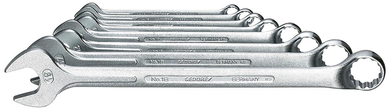 7 XL-080 extra lang Gedore Ring-Maulschlüssel-Satz 8-tlg 8-19 mm