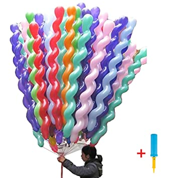 c7464b2317257 LeadTry 40-Inch Latex Spiral Balloons