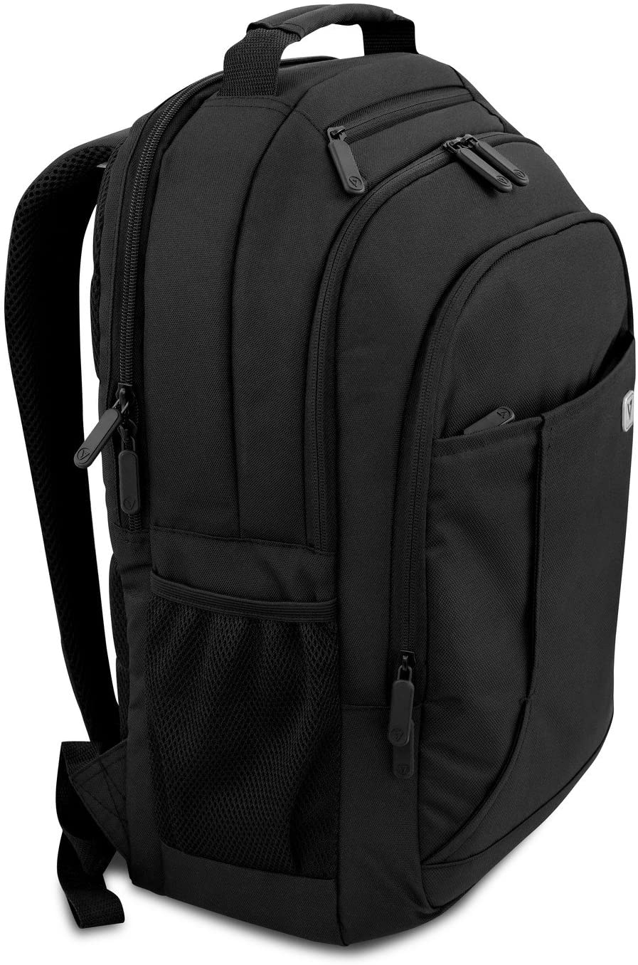 """V7 16"""" Professional Laptop Backpack for Business Professionals, College Students and Travelers Made of Water Resistant Polyester - CBP16-BLK-9N"""