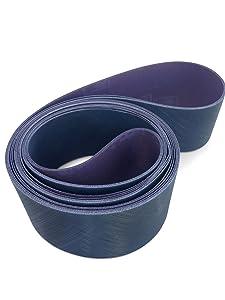 3M Trizact 2 X 72 Inch Sanding Belts A30 (P800), A16 (P1200), A6 (P2500) Grit, 3 Pack Assortment