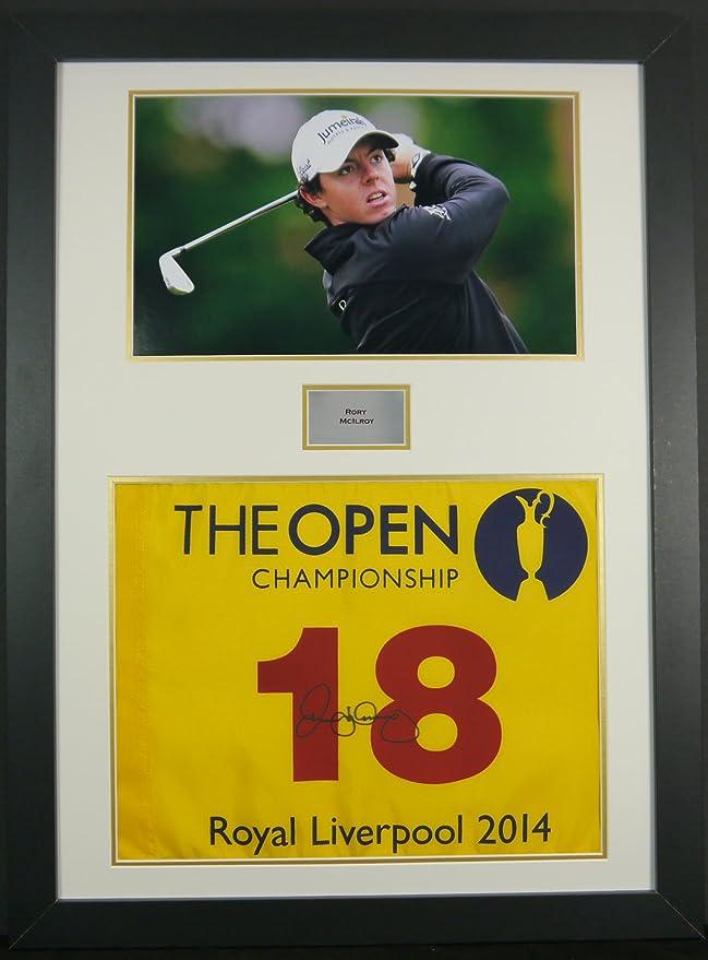 Frame It Display It Gerahmtes Golf-Fähnchen mit Unterschrift von ...