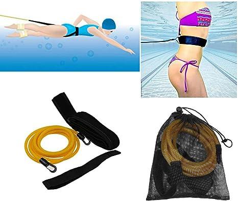 UK Swim Bungee Training Belt Kit Swimming Resistance Safe Leash Exerciser Tether