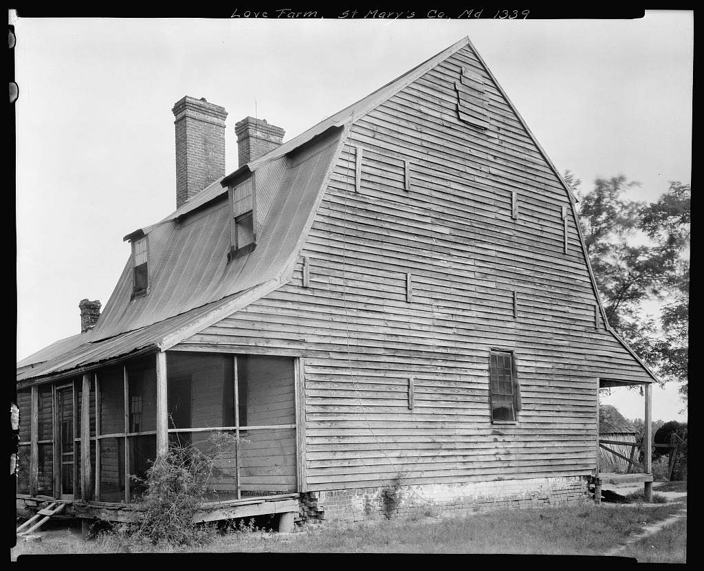 Vintography 16 x 20 Reprinted Photo of Southern Architectural Love Farm, Morganza vic, St. Mary39;s County, Maryland 1939 Johnston Frances Benjamin 46a