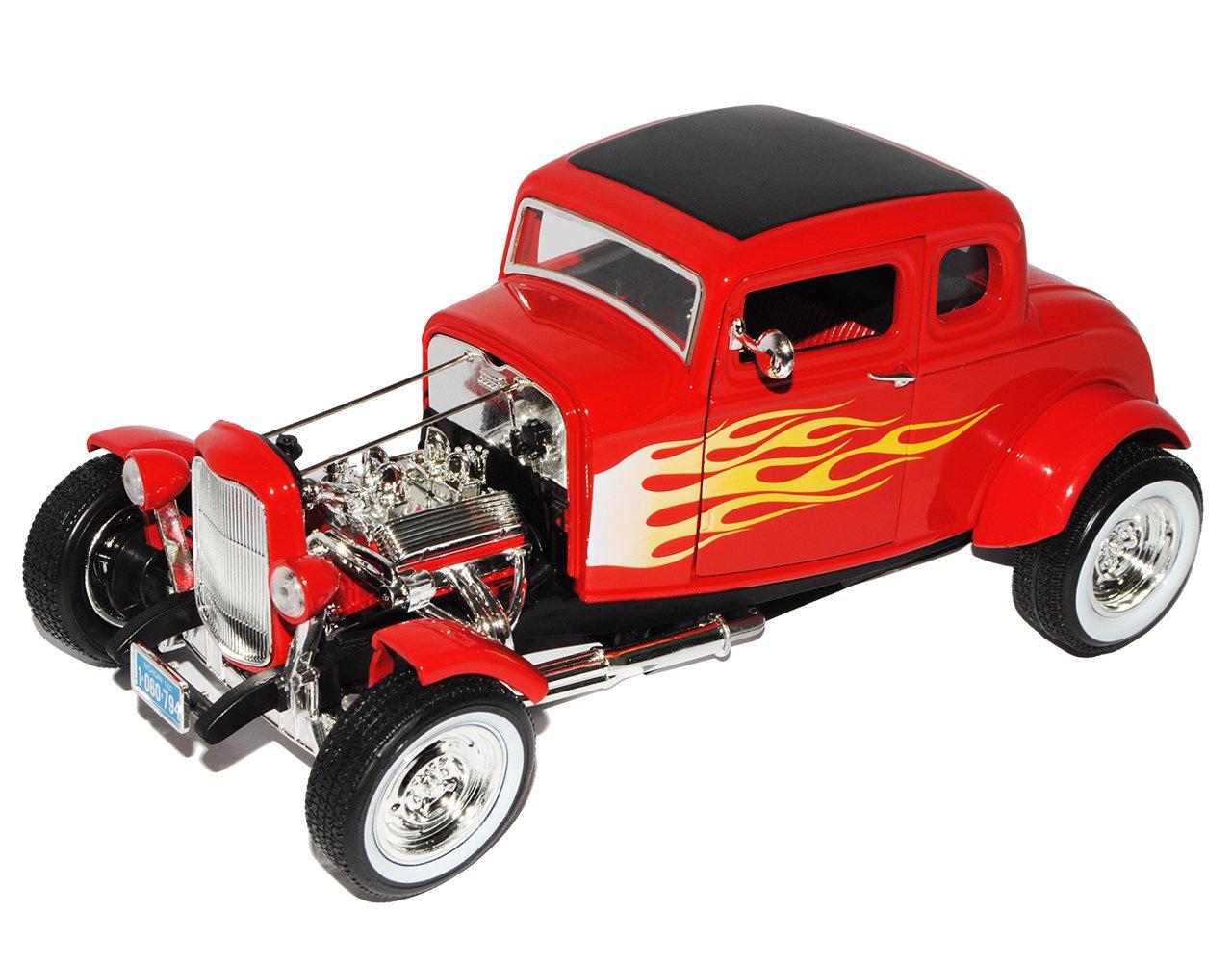 Ford Coupe 1932 Hot Rod schwarz mit Motorhaube Modellauto 1:18 Motormax