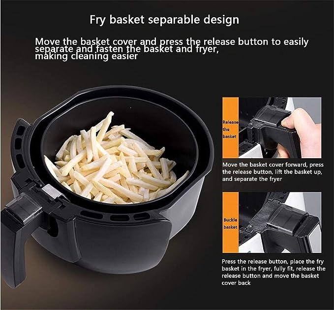 NUO-Z Mini Horno de la Cocina de la sartén de Aire 1200W, Dispositivos de Cocina con poca Grasa: Amazon.es: Deportes y aire libre