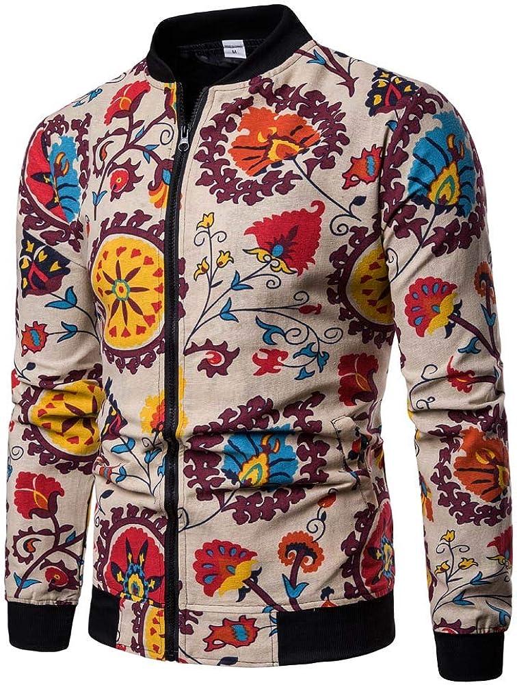 JiaMeng Hombre Invierno Sudaderas con Capucha de Manga Larga Jersey de Cremallera Estampado de Moda de Talla Grande