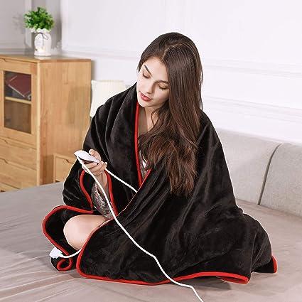 Manta Electrica Cama de Apagado Automático Sofa Calienta Camas Electrico Calientacama Electric Blanket Manta Térmica 10 Niveles de Calefacción ...