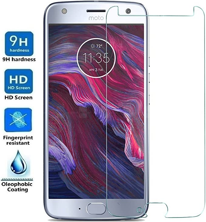REY Protector de Pantalla para Motorola Moto X4, Cristal Vidrio Templado Premium: Amazon.es: Electrónica