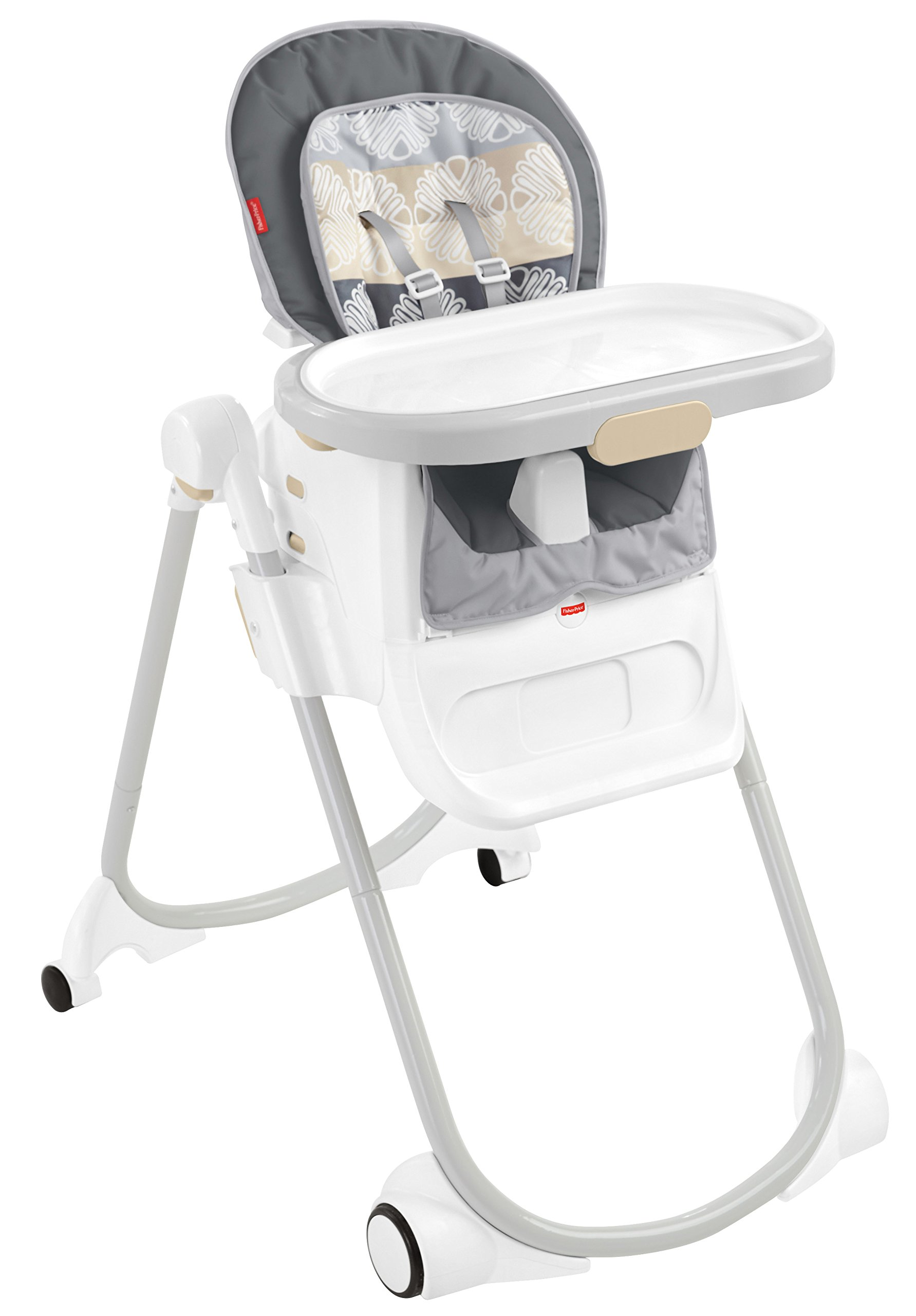 Fisher-Price 4-in-1 Total Clean High Chair, White/Grey, One size