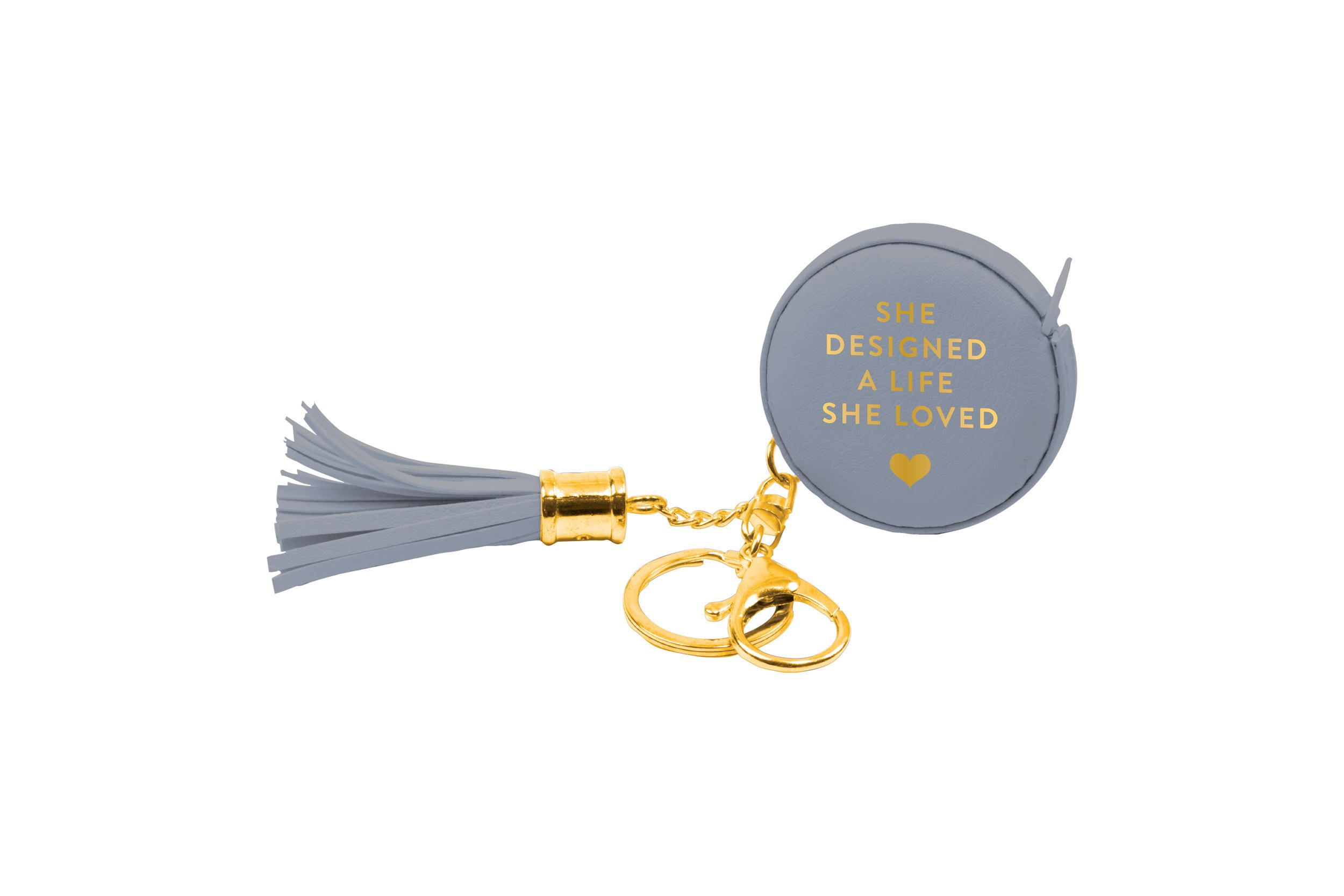 Measuring Tape Key Chain Gray Designed a Life