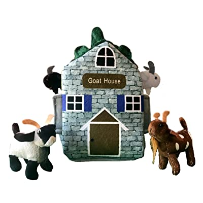 "ADORE 12"" Goat Farm House Stuffed Animal Plush Playset: Toys & Games"