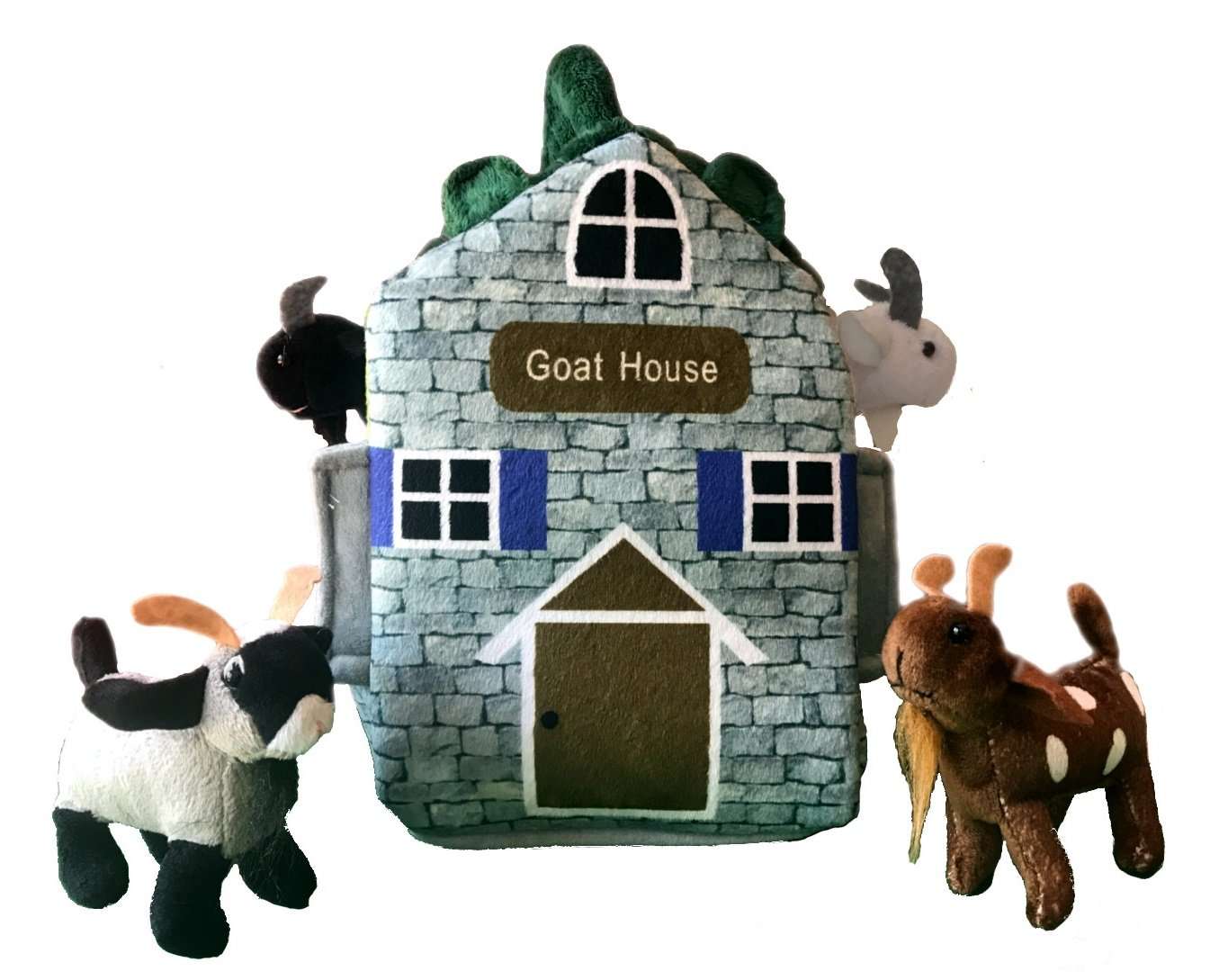 ADORE 12'' Goat Farm House Stuffed Animal Plush Playset by Adore Plush Company