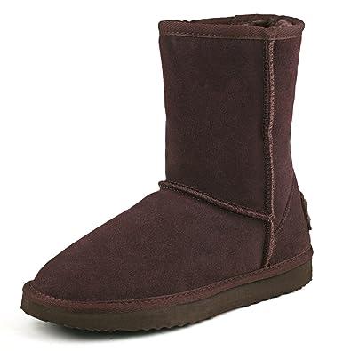 Femme Doublure HiverBottes Mollet De Boots Mi Shenduo Chaude Neige Da5825 Classiques yvNnw0OPm8