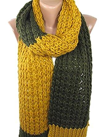 Knit Scarf Chunky Scarf Cozy Winter Scarf Knitting Muffler Ascot