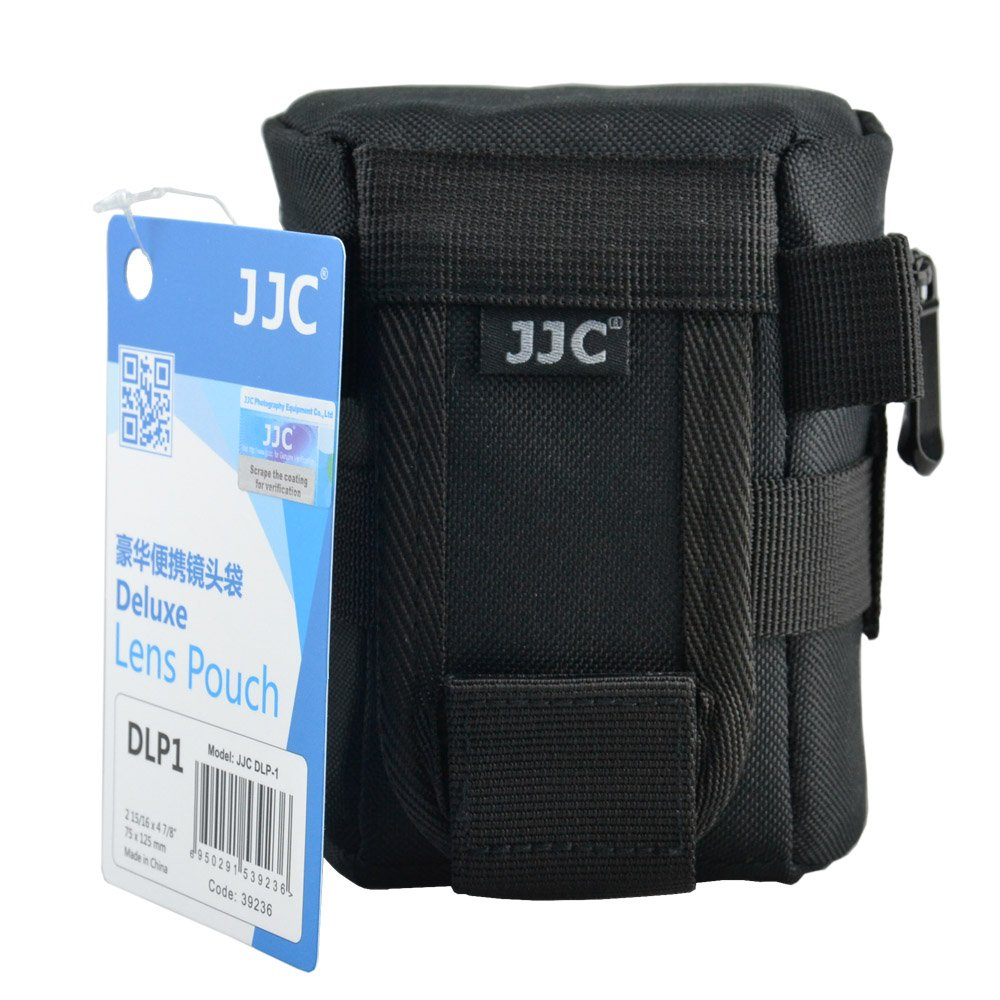 JJC DLP-1 Deluxe Lens Pouch for Lenses with Diameter and Height Below 78 x 125mm - Canon EF 50mm EF-S 18-55mm EF-M 18-55mm Nikon Nikkor 18-55mm Olympus ZUIKO Digital 14-42mm
