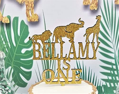Terrific Amazon Com Babys First Birthday Cake Topper Safari Topper Zoo Funny Birthday Cards Online Amentibdeldamsfinfo