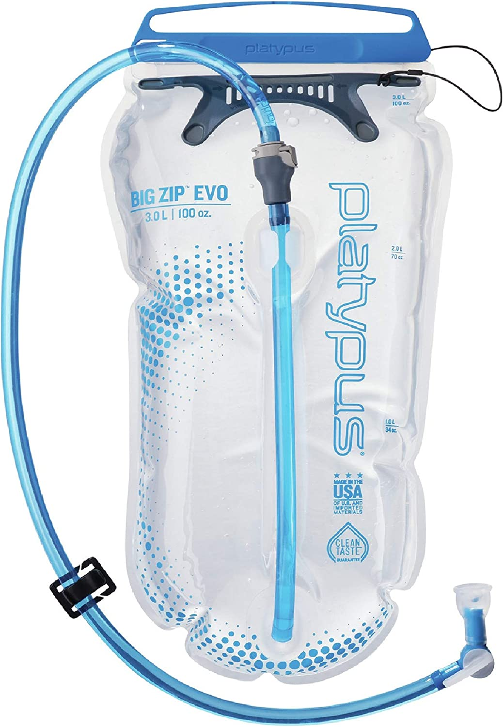 Platypus Big Zip Water Reservoir for Hydration Backpacks, 3-Liter, EVO with Fast Flow Valve : Sports & Outdoors